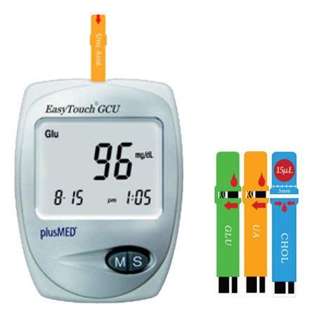 jual easy touch gcu 3in1 alat test gula darah asam urat