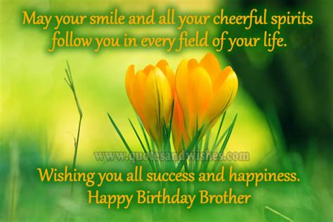Happy Birthday Smile Quotes Your Brother Quotes Like Success