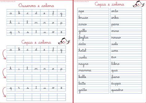 lettere corsivo minuscolo bambini 6 11 archivi genitorialmente