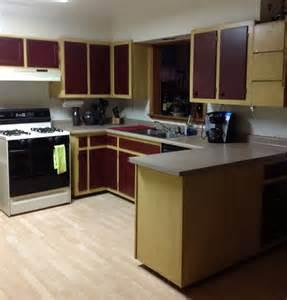 Kitchen Cabinet Transformation Rustoleum Cabinet Transformations Cabernet Bar Cabinet