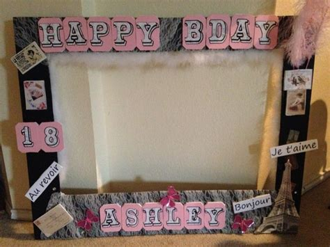 themed picture frames themed photo booth frame ideas