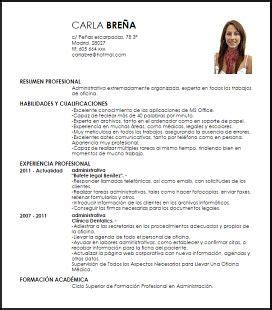 Modelo Curriculum Asistente Administrativo las 25 mejores ideas sobre modelo curriculum en