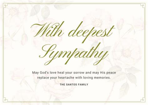 sympathy card template word sympathy card templates pertamini co
