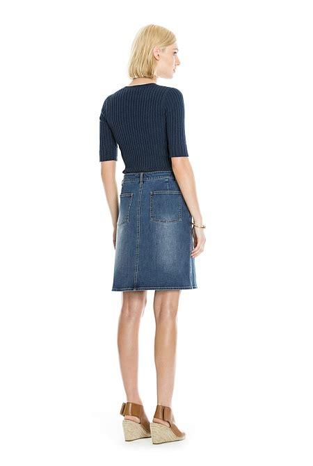 split front denim skirt skirts