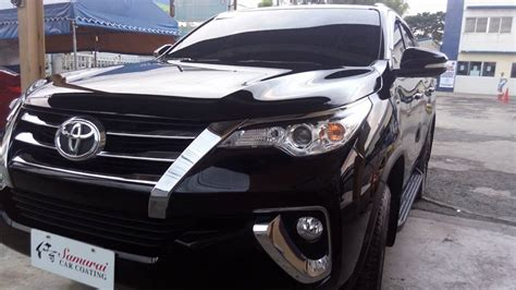 Fortuner Black glass carcoating toyota fortuner 2017 black samurai