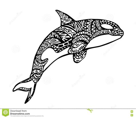 coloring book orca whale