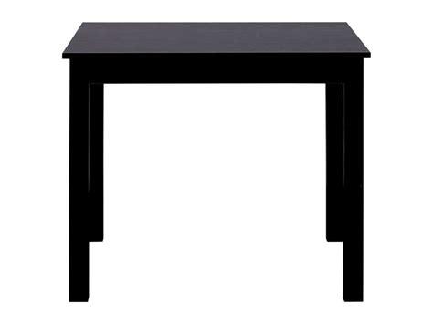 table salon conforama 130 table carr 233 e avec allonge 130 cm max coloris noir