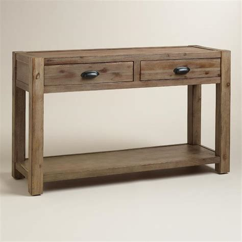 wood quade console table in brown