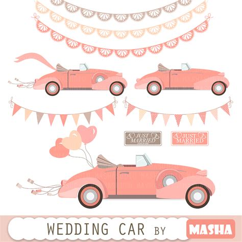 Just Married Auto Clipart by Just Married Car Clipart 85