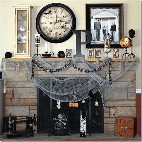 all scrapbook steals the spooky fireplace mantel