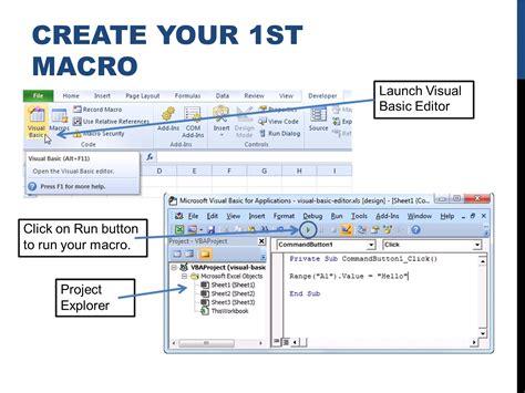 tutorial macros en excel empezando con macros en excel e learning