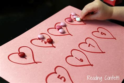 valentines day projects for preschoolers s day math for toddlers and preschoolers
