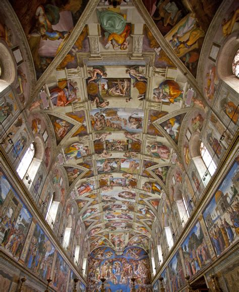 Michelangelo Ceiling Of The Sistine Chapel by Sistine Chapel Vatican City Flickr Photo
