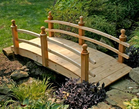 landscaping bridge red cedar camelot double rail bridge