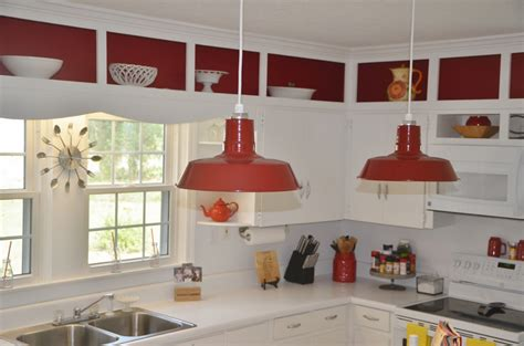 barn pendant lights define modern country kitchen