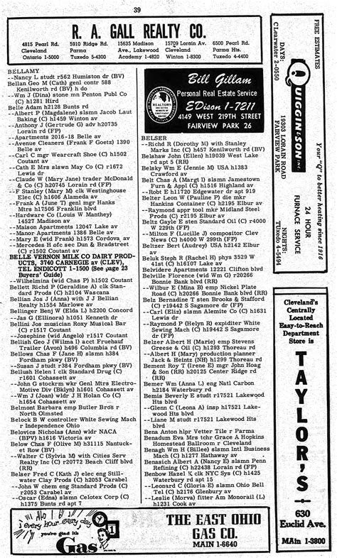 lakewood city directory 1953