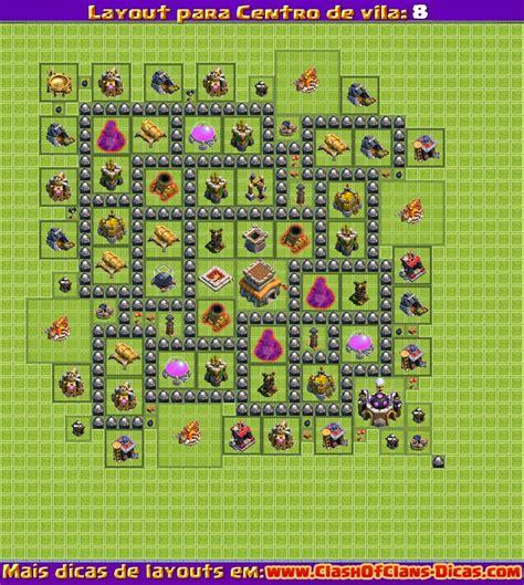 layout para cv 8 clash of clans melhores layouts para clash of clans centro de vila n 237 vel