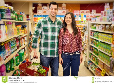 Time To Actually Buy Groceries by Happy Buying Some Groceries Stock Photo Image