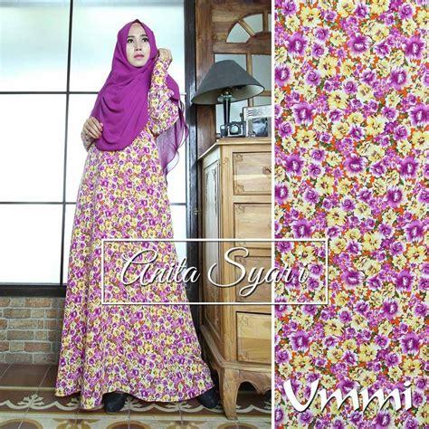 Manset Busui purple baju muslim gamis modern