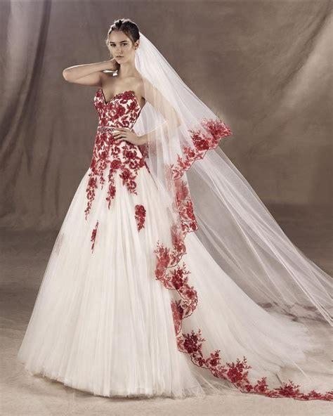 imagenes de vestidos de novia con detalles rojos m 225 s de 25 ideas fant 225 sticas sobre vestidos de novia de
