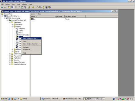 membuat database jadwal kuliah membuat database user dan mengkoneksikannnya ke dalam vb