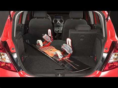 opel corsa trunk space opel corsa trunk size youtube