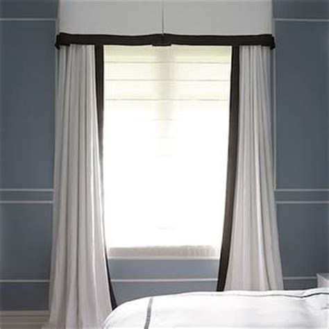 White Curtains Black Trim Black Trim Is The Decorating Accent