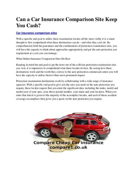 Can a car insurance comparison site keep you cash