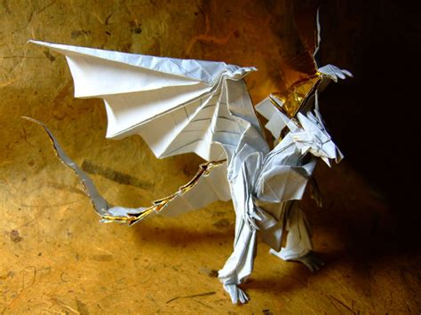 Bahamut Origami - bahamut by satoshi kamiya by guspath on deviantart