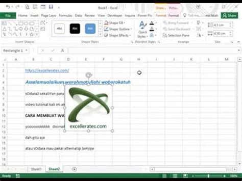 cara membuat watermark di ms excel cara membuat watermark di microsoft excel youtube