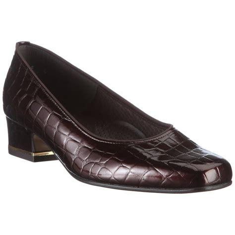 ara shoes ara 41859 07 brown patent croc court shoe ara from