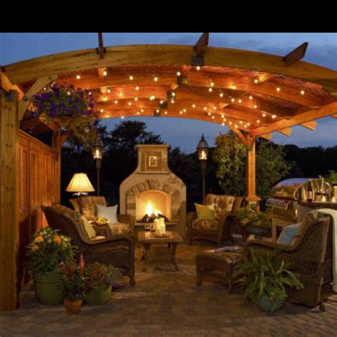 Outdoor Pergola Lights Pergola With Lights Home Sweet Home