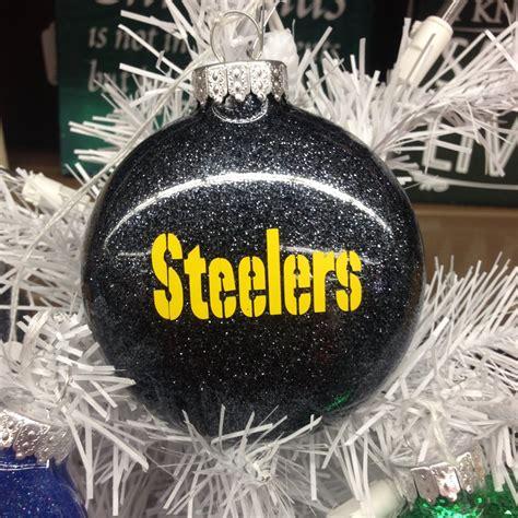 holiday christmas tree ornament nfl football pittsburgh