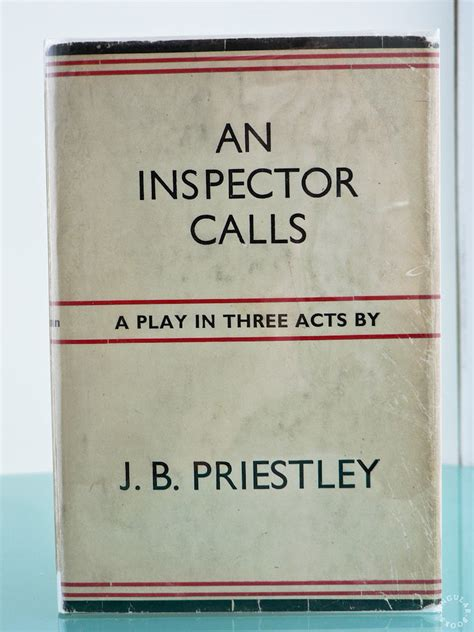 S Day Jb Priestley Question And Answers An Inspector Calls By Priestley J B Signed Edition
