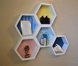 honeycomb hexagon wall shelves land of nod inspired