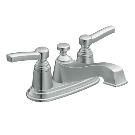 centerset bathroom faucet shop moen rothbury chrome 2 handle 4 in centerset