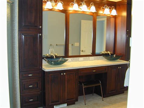 Bathroom Vanity Designs Images Appealing Bathroom Linen Cabinets And Vanities Roselawnlutheran