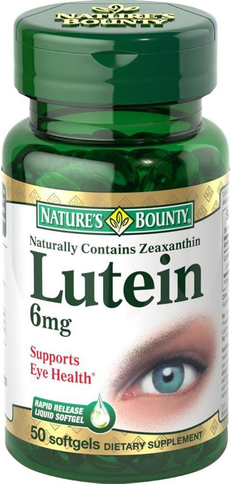 eye q supplement ingredients nature s bounty lutein 6 mg 50 count health