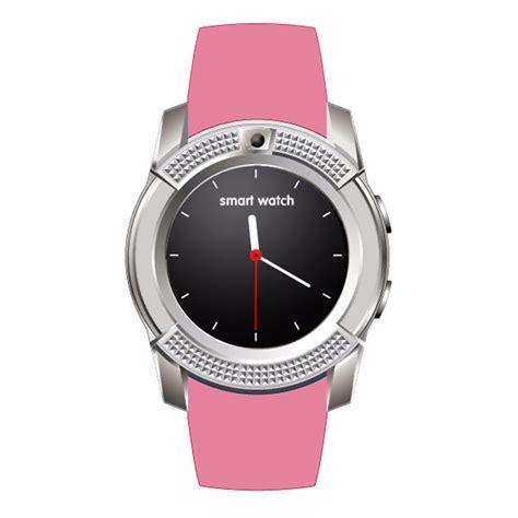 Mens Womens Pink V8 Smart Bluetooth Watch Fitness Tracker GSM Sim IOS Android   eBay