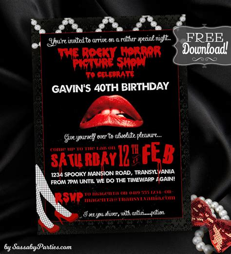 rocky horror picture show free download invitation the