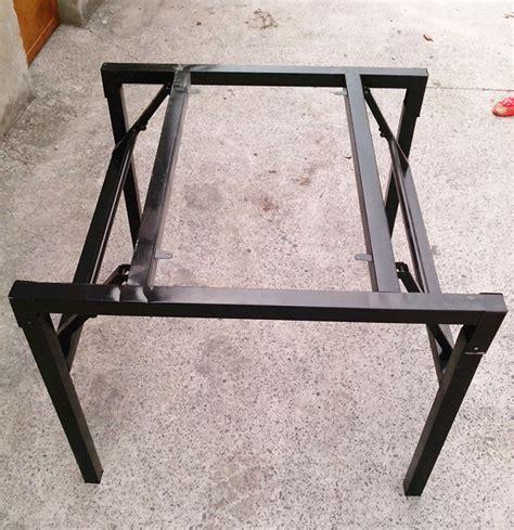 Meja Lipat Stainless baru gaya kualitas atas logam dilipat lipat kaki meja
