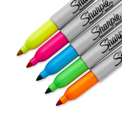 color markers sharpie neon permanent markers point