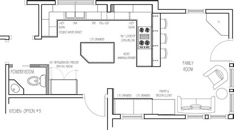 Kitchen Design Blueprints Floor Plan Option 3 Home Ideas Kitchen