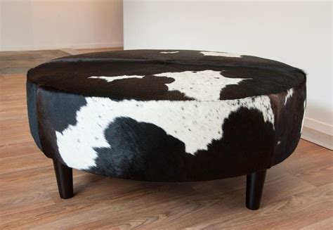 cow hide ottomans 63 best images about cowhide leather on