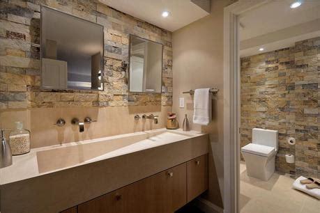 New Bathroom Looks Fotos Ba 241 Os Decorados Con Piedra Paperblog