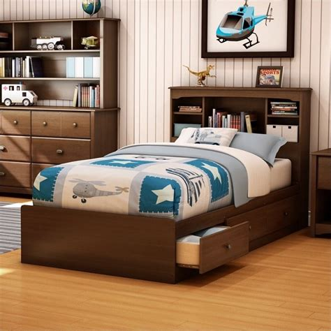 twin bed frame for kids south shore nathan kids twin mates storage frame only