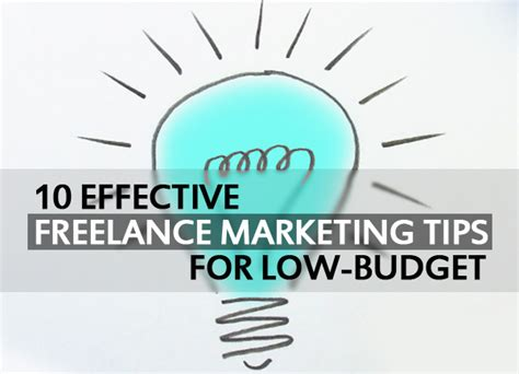 freelance marketing tips for low budget articles design