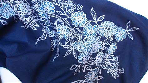 batik design of cambodia scarf hand drawn batik on cambodian silk indigo dye