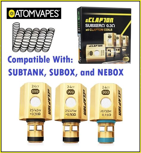 Kraken Coil Fused Clapton Gold Series atom vapes gold plated clapton coils for subtank subox nebox