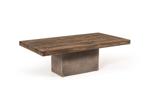Modrest Renzo Modern Oak Concrete Coffee Table Modern Oak Coffee Table